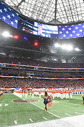 During the Chick-fil-A Kickoff Game between the Auburn Tigers and the Washington Huskies at Mercedes-Benz Stadium, Saturday, September 1, 2018, in Atlanta. Auburn won 21-16. (Chris Eason via Abell Images for Chick-fil-A Kickoff)