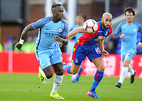 Football - 2016 / 2017 FA Cup - Fourth Round: Crystal Palace vs. Manchester City<br /> <br /> Bacary Sagna of Man City and Andros Townsend of Crystal palace at Selhurst Park.<br /> <br /> COLORSPORT/ANDREW COWIE