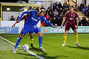 AFC Wimbledon midfielder Mitchell (Mitch) Pinnock (11) battles for possession during the EFL Sky Bet League 1 match between AFC Wimbledon and Ipswich Town at the Cherry Red Records Stadium, Kingston, England on 11 February 2020.
