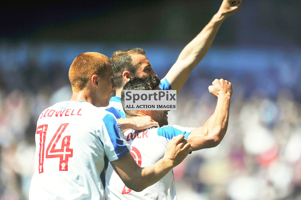 BRIGHTONS GLEN MURRAY CELEBRATES AFTER SCORING BRIGHTONS FIRST GOAL, Aston Villa v Brighton Hove Albion Sky Bet Championship Villa Park Sunday 7th May 2017<br /> Photo:Mike Capps