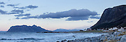 High resolution panorama of stormy day at Flø, Norway. The island Godøy in the background | Høyoppløslig panorama av en stormfull dag på Flø, Norge. Godøya i bakgrunnen