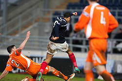Falkirk's Lyle Taylor scoring their fourth goal..Falkirk 4 v 1 Forfar Athletic, Scottish Cup fifth round tie, 2/2/2013. .©Michael Schofield.