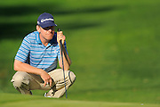 Justin Leonard lines up his putt on the 17th hole on the North Course during the pro-am prior to the Farmers Insurance Open at Torrey Pines on Jan. 25, 2012 in San Diego, California...©2012 Scott A. Miller