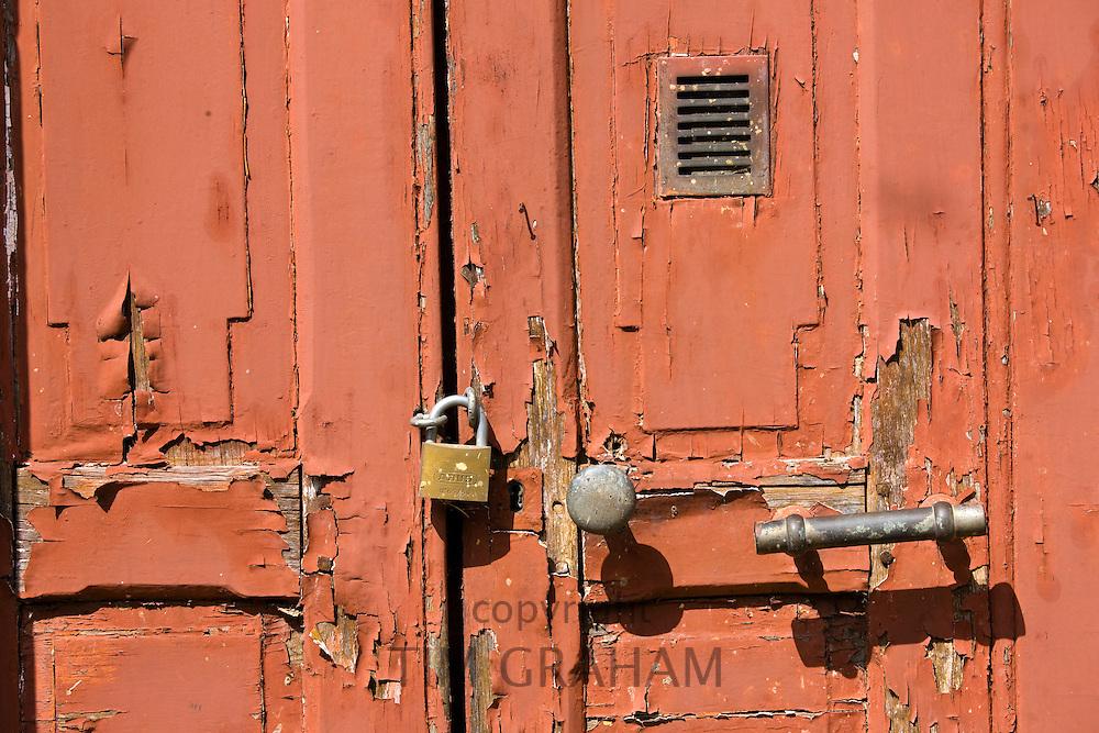 Door detail in Ballee, Normandy, France
