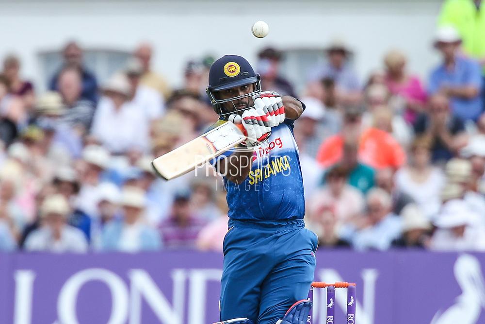 Sri Lanka's Seekkuge Prasanna in action during the Royal London ODI match between England and Sri Lanka at Trent Bridge, West Bridgford, United Kingdon on 21 June 2016. Photo by Shane Healey.