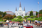 The St. Louis cathedral, New Orleans, LA, USA