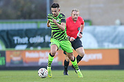 Forest Green Rovers Liam Shephard(2) runs forward during the The FA Cup match between Forest Green Rovers and Carlisle United at the New Lawn, Forest Green, United Kingdom on 30 November 2019.