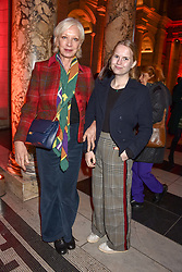 Mary Greenwell and Daisy Amberg at the Mary Quant VIP Preview at The Victoria & Albert Museum, London, England. 03 April 2019. <br /> <br /> ***For fees please contact us prior to publication***