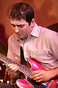 Chris Allard on guitar with the Tom Richards Orchestra at the Friday Tonic concert in 2008. Frontroom, Queen Elizabeth Hall, Southbank Centre, London