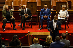 Images of the Central Florida Knights and the Auburn Tigers as they attend an event at Ebenezer Baptist Church on Thursday, December 28, 2017, in Atlanta, GA. UCF will face Auburn in the Chick-fil-A Peach Bowl on January 1, 2018. (Jason Parkhurst via Abell Images for Chick-fil-A Peach Bowl)