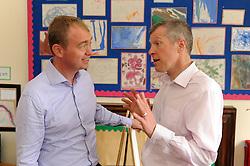 Willie Rennie, Cowdenbeath, 29-4-2016<br /> <br /> Tim Farron and Willie Rennie<br /> <br /> (c) David Wardle | Edinburgh Elite media
