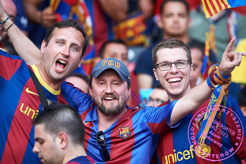 (C) Michal Zawada supporter of Barcelona during the 2014/15 UEFA Champions League Final between Juventus and FC Barcelona at Olympiastadion on June 6, 2015 in Berlin, Germany.<br /> Germany, Berlin, June 6, 2015<br /> <br /> Picture also available in RAW (NEF) or TIFF format on special request.<br /> <br /> For editorial use only. Any commercial or promotional use requires permission.<br /> <br /> Adam Nurkiewicz declares that he has no rights to the image of people at the photographs of his authorship.<br /> <br /> Mandatory credit:<br /> Photo by &copy; Adam Nurkiewicz / Mediasport