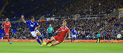Birmingham City's Che Adams scores his side's first goal of the game against Crawley Town