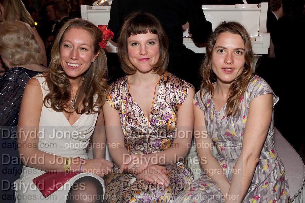 NINA RAINE; LYDIA FOX; PHOEBE AYOADE , Post Olivier Awards Gala party. Waldorf Astoria. London. 13 March 2011. -DO NOT ARCHIVE-© Copyright Photograph by Dafydd Jones. 248 Clapham Rd. London SW9 0PZ. Tel 0207 820 0771. www.dafjones.com.