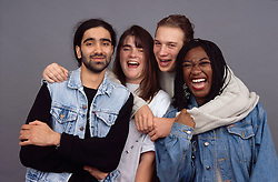 Multiracial group of young people,