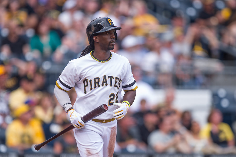 PITTSBURGH, PA - JUNE 08: Andrew McCutchen #22 of the Pittsburgh Pirates looks on during the game against the Milwaukee Brewers at PNC Park on June 8, 2014 in Pittsburgh, Pennsylvania. (Photo by Rob Tringali) *** Local Caption *** Andrew McCutchen