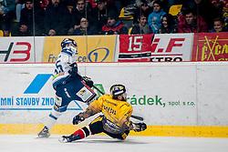 23.12.2016, Ice Rink, Znojmo, CZE, EBEL, HC Orli Znojmo vs Fehervar AV 19, 34. Runde, im Bild v.l. Andrew Sarauer (Fehervar AV19) Martin Podesva (HC Orli Znojmo) // during the Erste Bank Icehockey League 34th round match between HC Orli Znojmo and Fehervar AV 19 at the Ice Rink in Znojmo, Czech Republic on 2016/12/23. EXPA Pictures © 2016, PhotoCredit: EXPA/ Rostislav Pfeffer