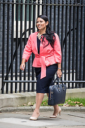 © Licensed to London News Pictures. 25/10/2016. London, UK. Secretary of State for International Development Priti Patel arrives at Downing Street to attend the government sub-committee on airports, which is expected to rule today on the expansion of either Gatwick of Heathrow airport. Photo credit: Rob Pinney/LNP