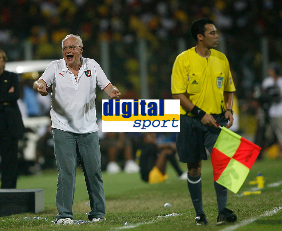 Photo: Steve Bond/Richard Lane Photography.<br />Ghana v Cameroon. Africa Cup of Nations. 07/02/2008. Otto Pfister is dismayed
