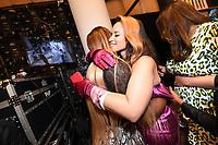 Dascha Polanco, Ashley Graham and Serena Williams backstage at the Klarna STYLE360 NYFW Hosts S by Serena Fashion Show