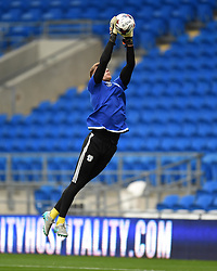 Ben Wilson of Cardiff City warms up - Mandatory by-line: Paul Knight/JMP - Mobile: 07966 386802 - 11/08/2015 -  FOOTBALL - Cardiff City Stadium - Cardiff, Wales -  Cardiff City v AFC Wimbledon - Capital One Cup