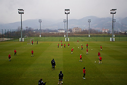 ZENICA, BOSNIA AND HERZEGOVINA - Sunday, November 26, 2017: Wales players during a training session ahead of the FIFA Women's World Cup 2019 Qualifying Round Group 1 match against Bosnia and Herzegovina at the FF BH Football Training Centre. (Pic by David Rawcliffe/Propaganda)
