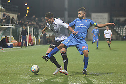 November 3, 2018 - Vercelli, Italy - Italian midfielder Nicolas Schiavi from Novara Calcio team playing during Saturday evening's match against Pro Vercelli team valid for the 10th day of the Italian Lega Pro championship  (Credit Image: © Andrea Diodato/NurPhoto via ZUMA Press)