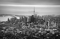 Aerial View, Downtown Toronto & Lake Ontario