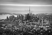 Aerial View, Downtown Toronto & Lake Ontario