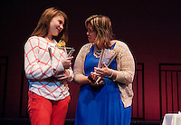 Meredith Fay Ellis Recipient of the Student Leader Award and Laura Brusseau Recipient of the Public Service Award at the Hero Awards held at the Winnipesaukee Playhouse Wednesday evening.  (Karen Bobotas/for the Laconia Daily Sun)