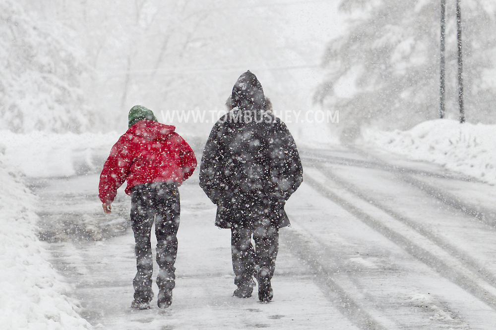 Middletown, New York - Snow falls during a storm  on  Nov. 26, 2014.