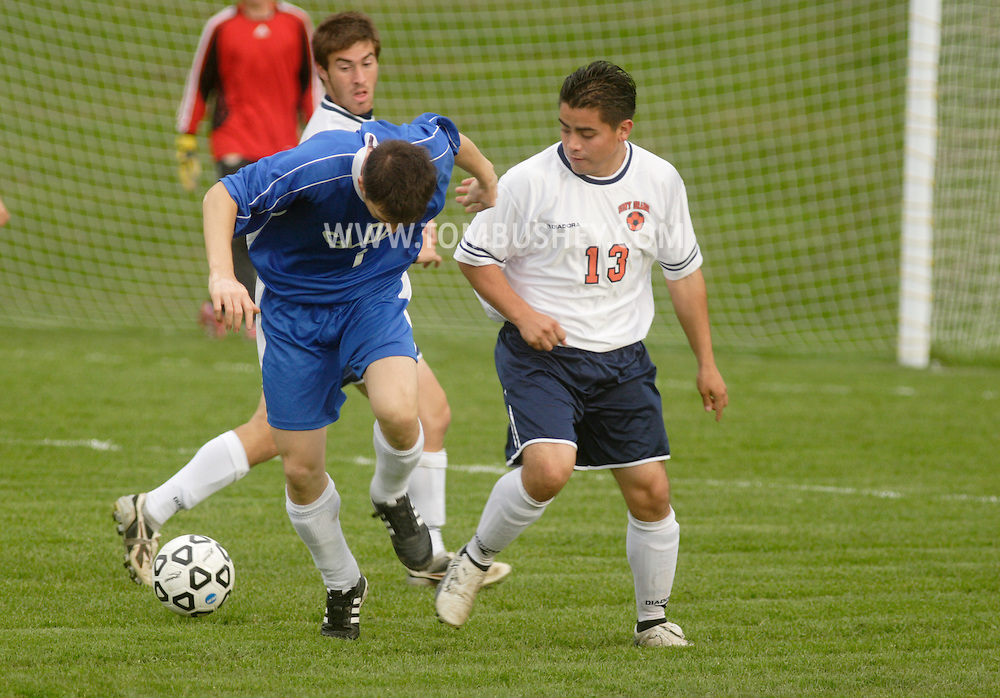Middletown, NY - SUNY Orange plays Globe Institute in a men's soccer game on Sept. 29, 2008.