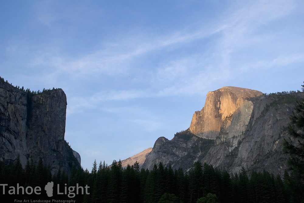 Yosemite Valley with halfdome at sunset