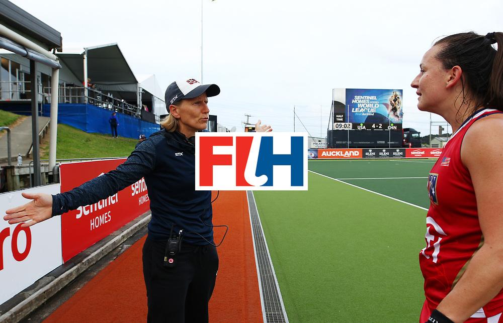New Zealand, Auckland - 25/11/17  <br /> Sentinel Homes Women&rsquo;s Hockey World League Final<br /> Harbour Hockey Stadium<br /> Copyrigth: Worldsportpics, Rodrigo Jaramillo<br /> Match ID: 10309 - USA vs CHN<br /> Photo: