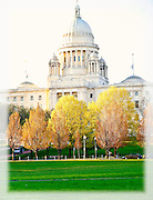 Rhode Island State House in Spring