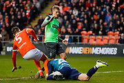 AFC Wimbledon forward Marcus Forss (15), on loan from Brentford,  during the EFL Sky Bet League 1 match between Blackpool and AFC Wimbledon at Bloomfield Road, Blackpool, England on 16 November 2019.