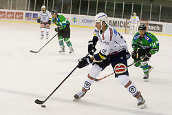 13.09.2015, Hala Tivoli, Ljubljana, SLO, EBEL, HDD Telemach Olimpija Ljubljana vs EC VSV, 2. Runde, in picture Adis Alagic (EC VSV, #22) during the Erste Bank Icehockey League 2. Round between HDD Telemach Olimpija Ljubljana and EC VSV at the Hala Tivoli, Ljubljana, Slovenia on 2015/09/13. Photo by Urban Urbanc / Sportida