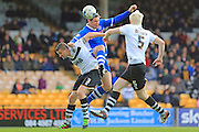 Carl Dickinson, Grant Holt during the Sky Bet League 1 match between Port Vale and Rochdale at Vale Park, Burslem, England on 23 April 2016. Photo by Daniel Youngs.