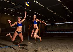 06-07-2018 NED: EC Beach teams Netherlands, The Hague<br /> (L-R) Sanne Keizer NED, Madelein Meppelink NED