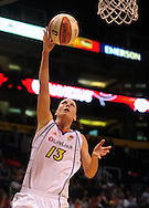 June 10, 2010; Phoenix, AZ, USA; Phoenix Mercury forward Penny Taylor puts up a basket during the second half in at US Airways Center.  The Mercury defeated the Lynx 99-88.  Mandatory Credit: Jennifer Stewart-US PRESSWIRE