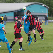 FC Kettledrum (red and black) v Stobswell (blue) - Dundee Saturday Morning Football League 'Super Saturday' at Dundee University Grounds, Riverside<br /> <br />  - &copy; David Young - www.davidyoungphoto.co.uk - email: davidyoungphoto@gmail.com