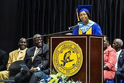 Valedictorian Deja Todman.  Charlotte Amalie High School 85th Annual Commencement Program at UVI Sports and Fitness Center.  14 June 2015.  © Aisha-Zakiya Boyd