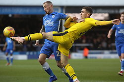 Marcus Maddison of Peterborough United in action with Josh Ruffels of Oxford United - Mandatory by-line: Joe Dent/JMP - 08/12/2018 - FOOTBALL - ABAX Stadium - Peterborough, England - Peterborough United v Oxford United - Sky Bet League One