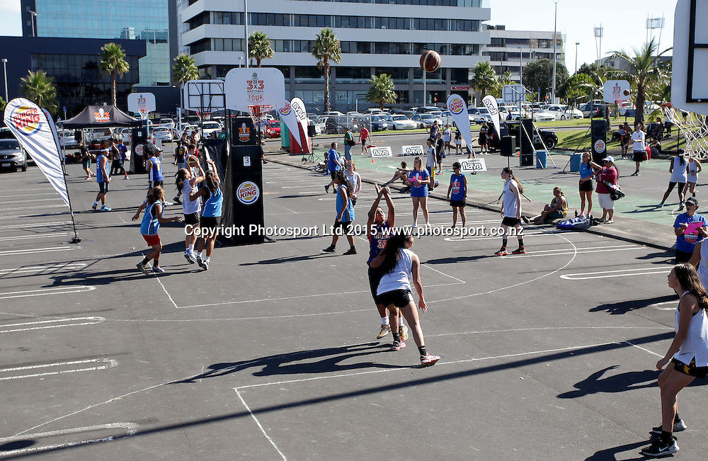 National 3 x 3 Basketball Tour, Manukau, Auckland, New Zealand, Saturday, March 14, 2015. Copyright photo: David Rowland / www.photosport.co.nz