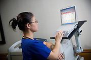 Hospital Nurse With Computer