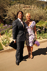 Th 2010 Royal Horticultural Society Chelsea Flower show in the grounds of Royal Hospital Chelsea, London on 24th May 2010.<br /> <br /> Picture shows:- LAURENCE LLEWELYN-BOWEN and his wife JACKIE