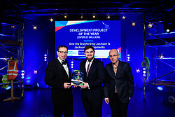 Development Project of the Year (Over &pound;5million), sponsored by Streets Chartered Accountants.  Winner: Jackson &amp; Jackson Developments - One the Brayford.<br /> <br /> Greater Lincolnshire Construction and Property Awards 2018 organised by Lincolnshire Chamber of Commerce and held at The Engine Shed, Lincoln.<br /> <br /> Picture: Chris Vaughan Photography<br /> Date: February 6, 2018