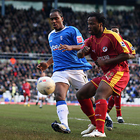 Photo: Mark Stephenson.<br />Birmingham City v Reading. The FA Cup. 27/01/2007.<br />Reading's Andre Bikey on the ball