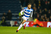 Queens Park Rangers midfielder Jordan Cousins (8) during The FA Cup 5th round match between Queens Park Rangers and Watford at the Loftus Road Stadium, London, England on 15 February 2019.