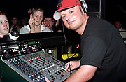 DJ Dave Pearce smiling at the camera, Club Class, Ikon, Maidstone, Kent, 2002